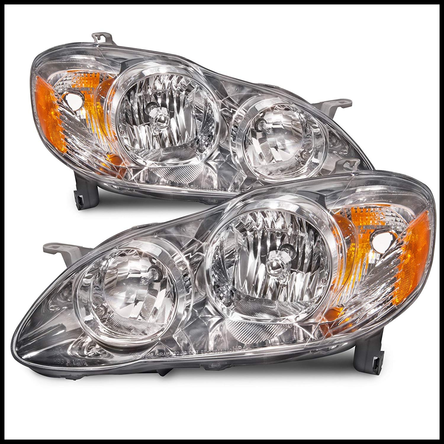 Amazon Headlights Depot Replacement for Toyota Corolla CE LE Model Headlights OE Style Replacement Headlamps Driver P Automotive