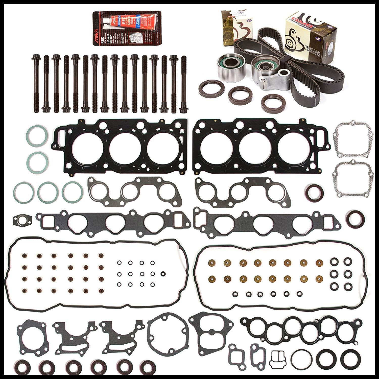 Amazon Evergreen HSHBTBK2044 Head Gasket Set Head Bolts Timing Belt Kit 99 04 Toyota Lexus 3 0 DOHC 1MZFE Automotive