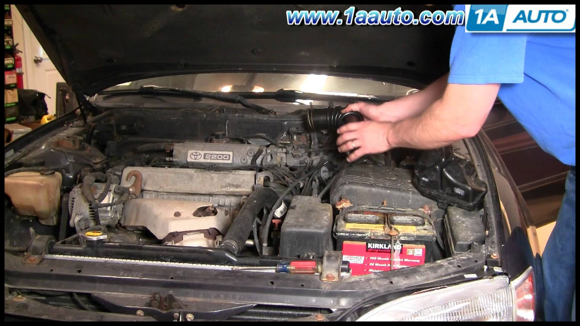 How To Install Replace Engine Air Intake Hose Toyota Camry 2 2L 95 96 1AAuto