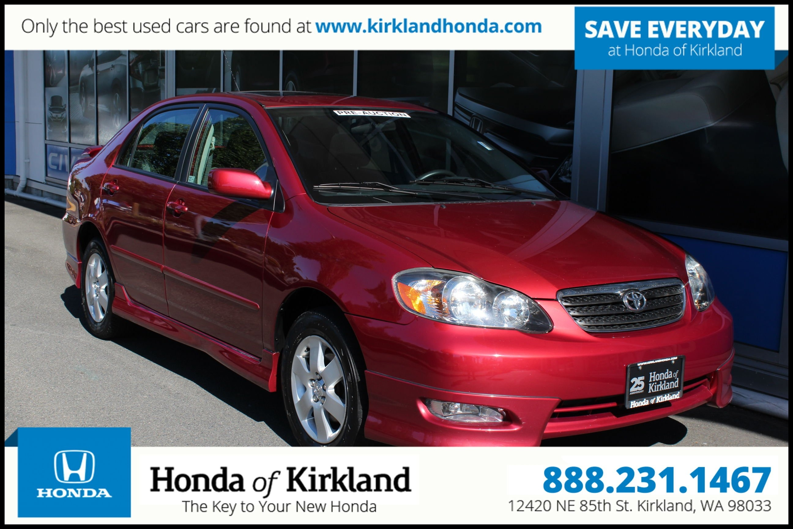 2003 toyota Corolla Body Parts Pre Owned 2006 toyota Corolla S 4dr Car In Kirkland a