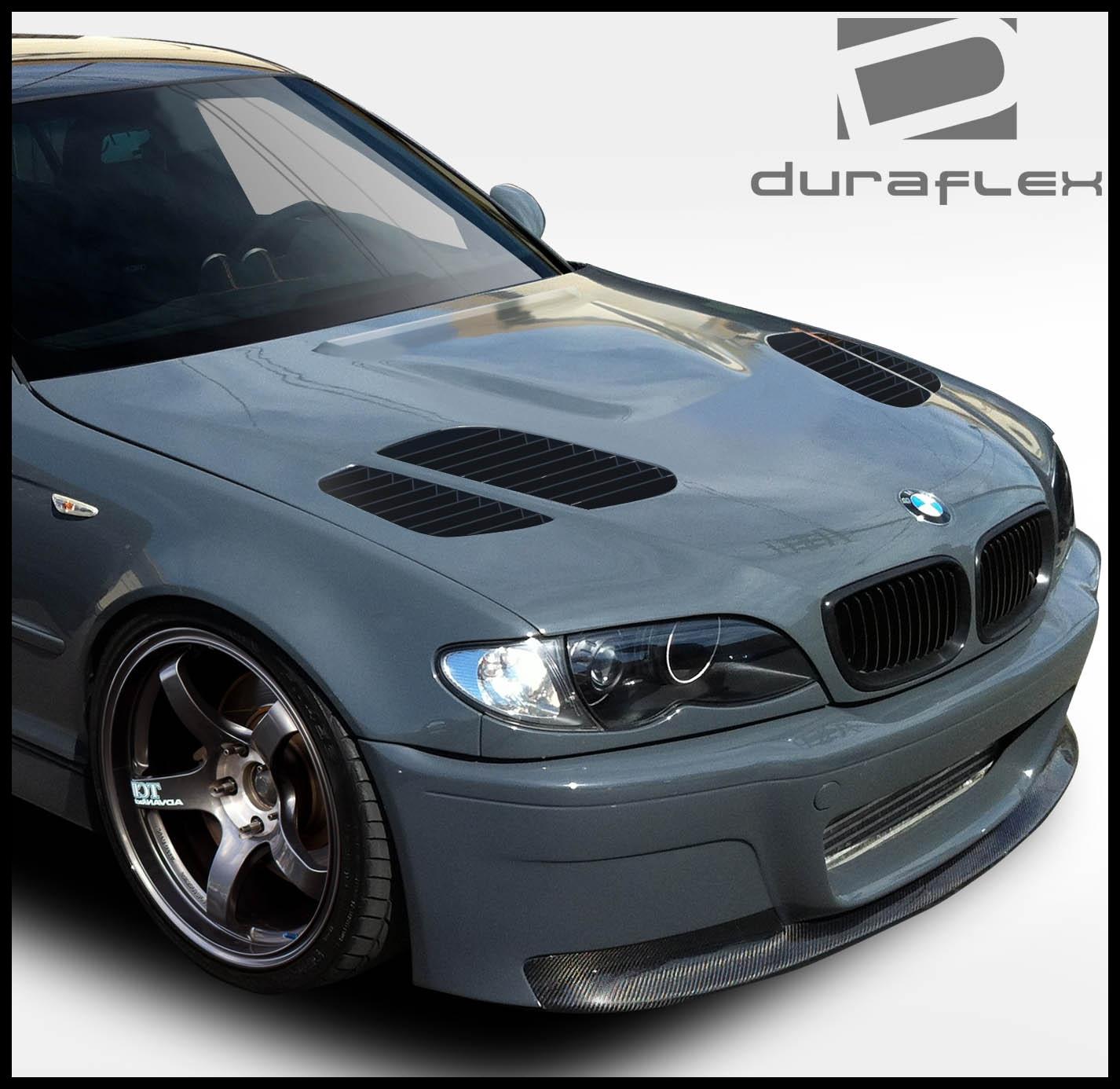 2002 2005 BMW 3 Series E46 4DR Duraflex GTR Hood 1 Piece Body Kit