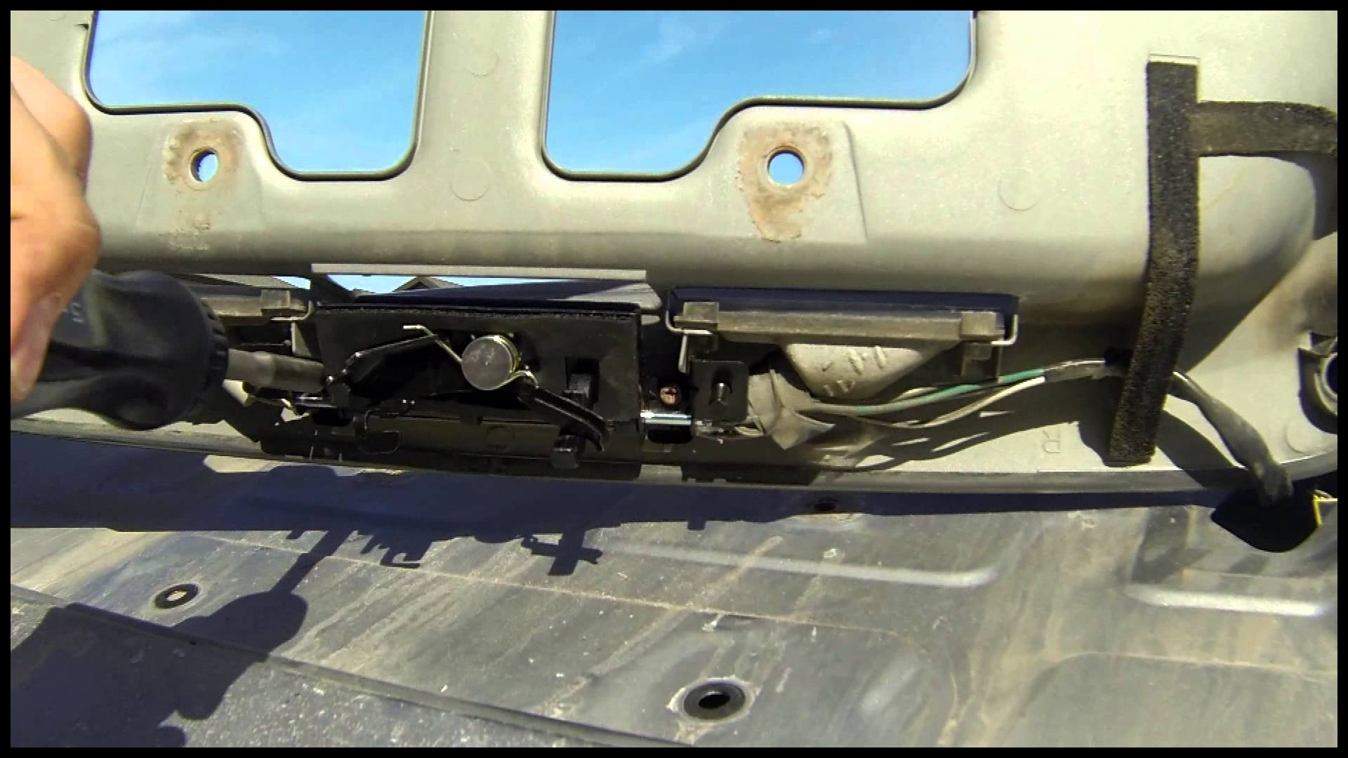 How To Replace The Rear Door Latch Handle A Toyota Sequoia Backdoor Liftgate Hatch