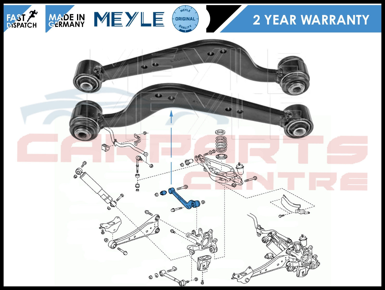 FOR TOYOTA RAV 4 2 0 2 2 REAR AXLE UPPER LEFT RIGHT WISHBONE TRACK CONTROL ARMS
