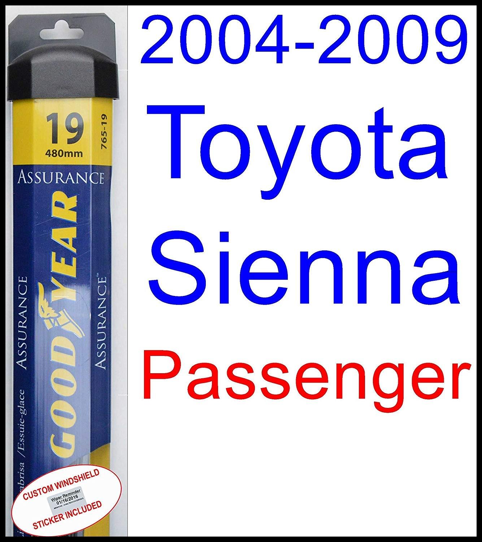 Amazon 2004 2009 Toyota Sienna Replacement Wiper Blade Set Kit Set of 2 Blades Goodyear Wiper Blades Assurance 2005 2006 2007 2008 Automotive