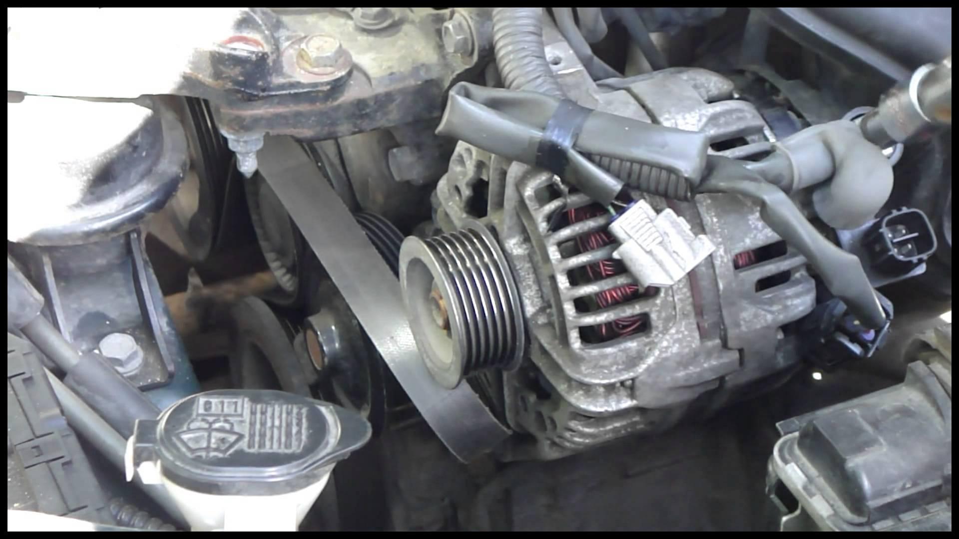 How to change alternator Toyota Corolla VVT i engine Years 2000 2008