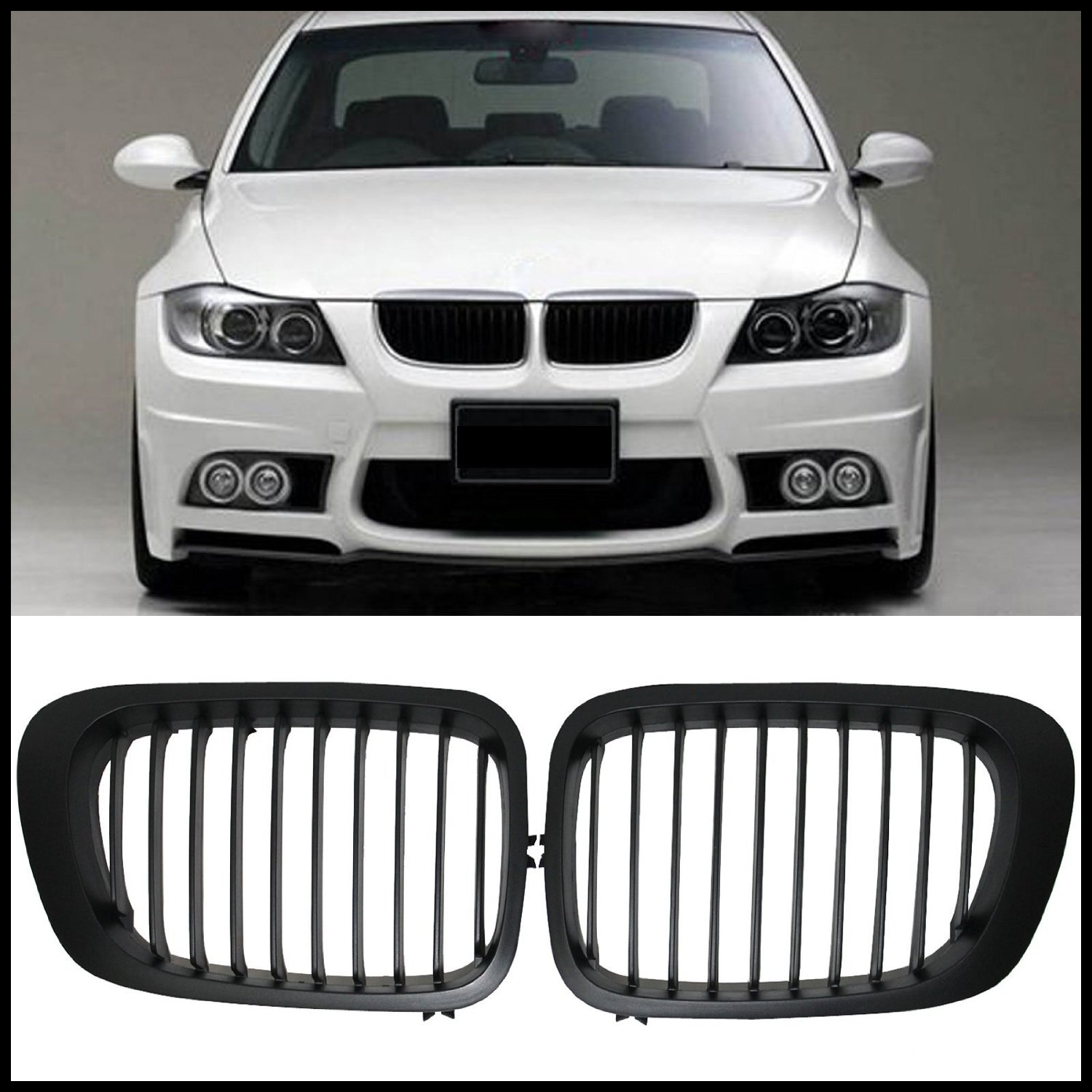 Get Quotations · Black Front Kidney Grill Grilles for BMW 3 Series E46 325Ci 2 Door 1999 2002