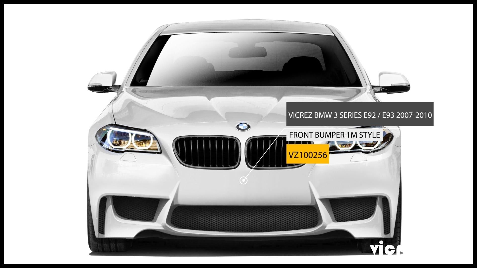 Vicrez BMW 3 Series E92 E93 2007 2010 1M Style Front Bumper vz v2