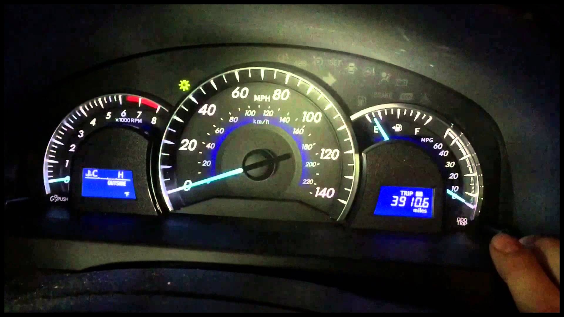 Turn off and reset maintenance light on Toyota Camry 2012 2011 2013 2014 2015 Oil Light
