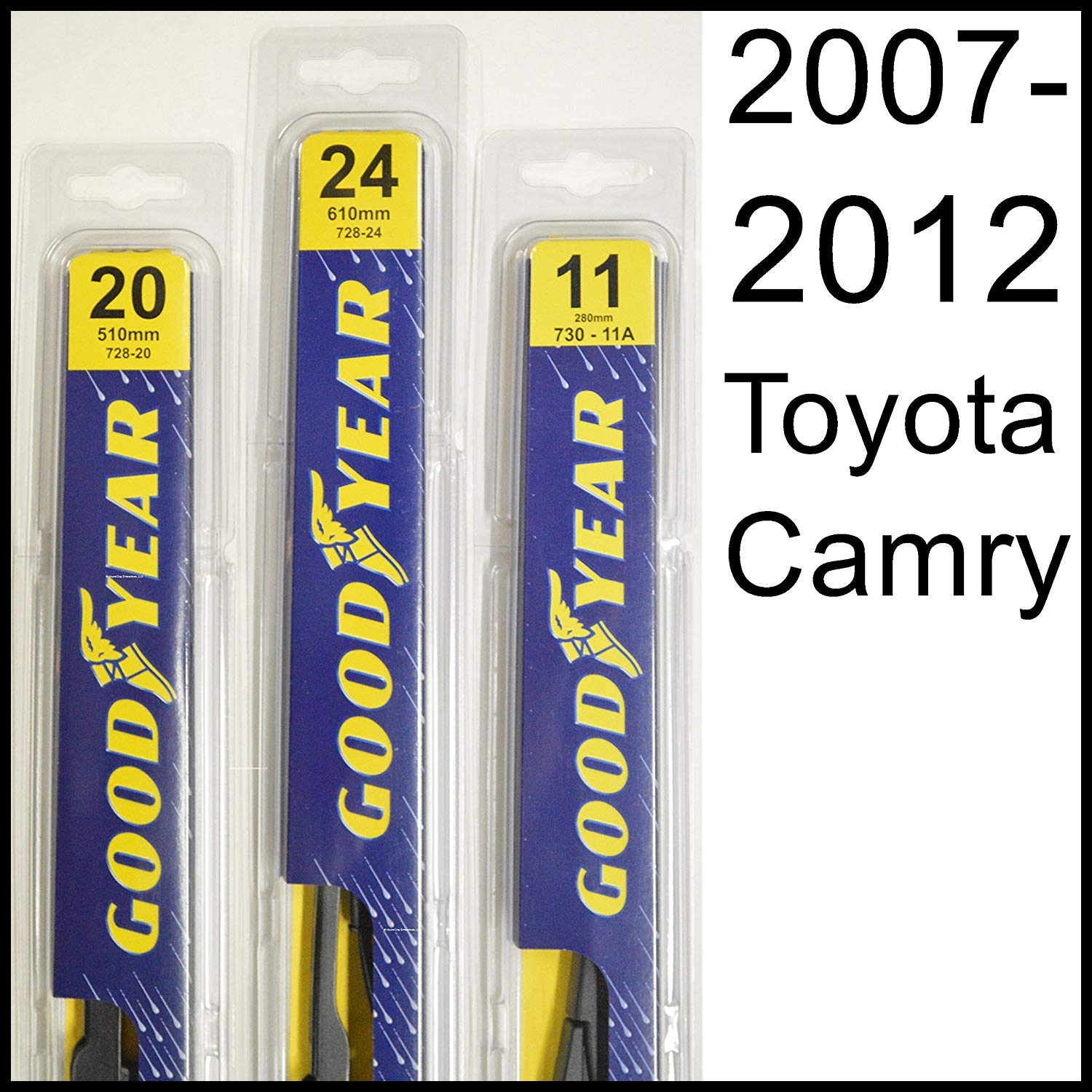 "Amazon Toyota Camry 2007 2012 Wiper Blade Kit Set Includes 24"" Driver Side 20"" Passenger Side 2 Blades Total Automotive"