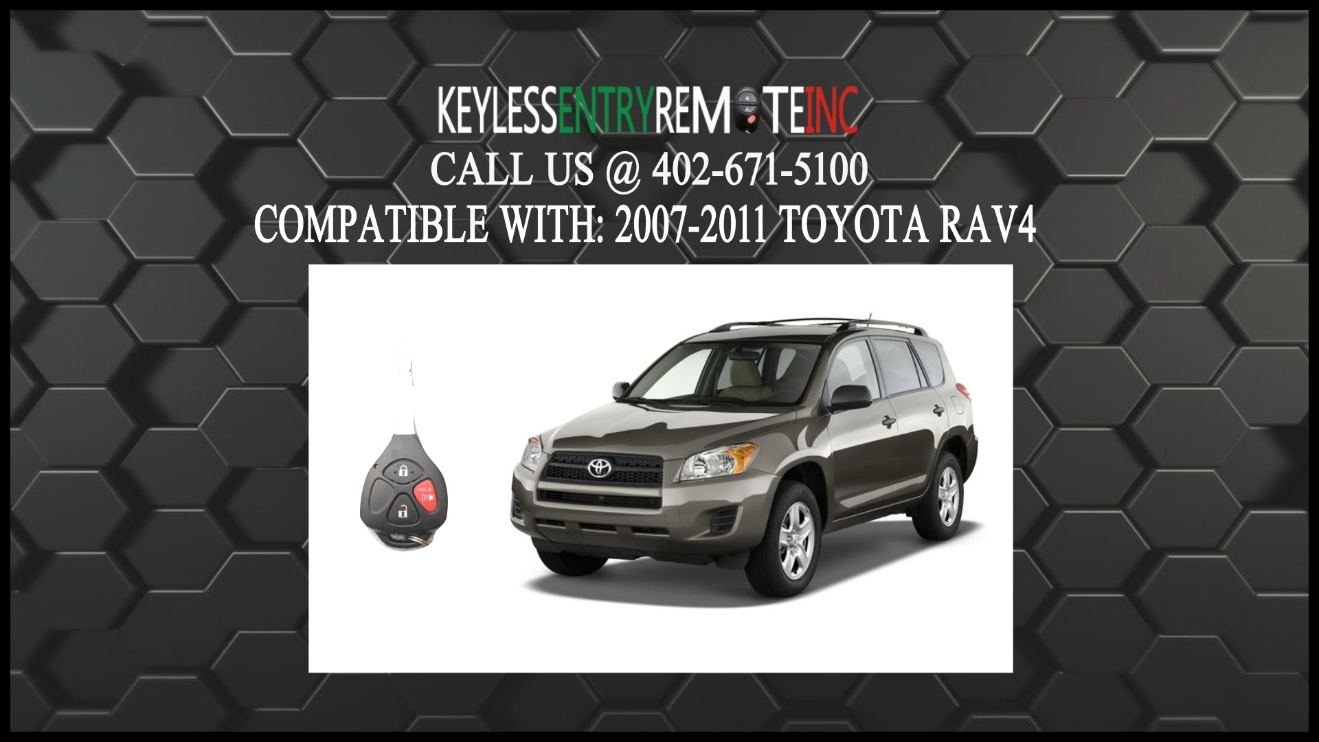 How To Replace Toyota Rav4 Key Fob Battery 2007 2008 2009 2010 2011 Keyless Entry Remote Inc