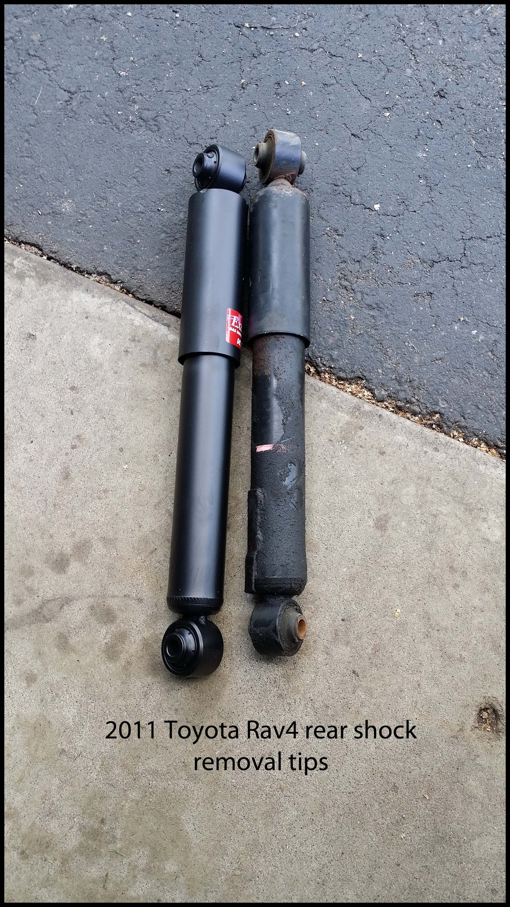 Tips 2011 Rav4 rear shock removal