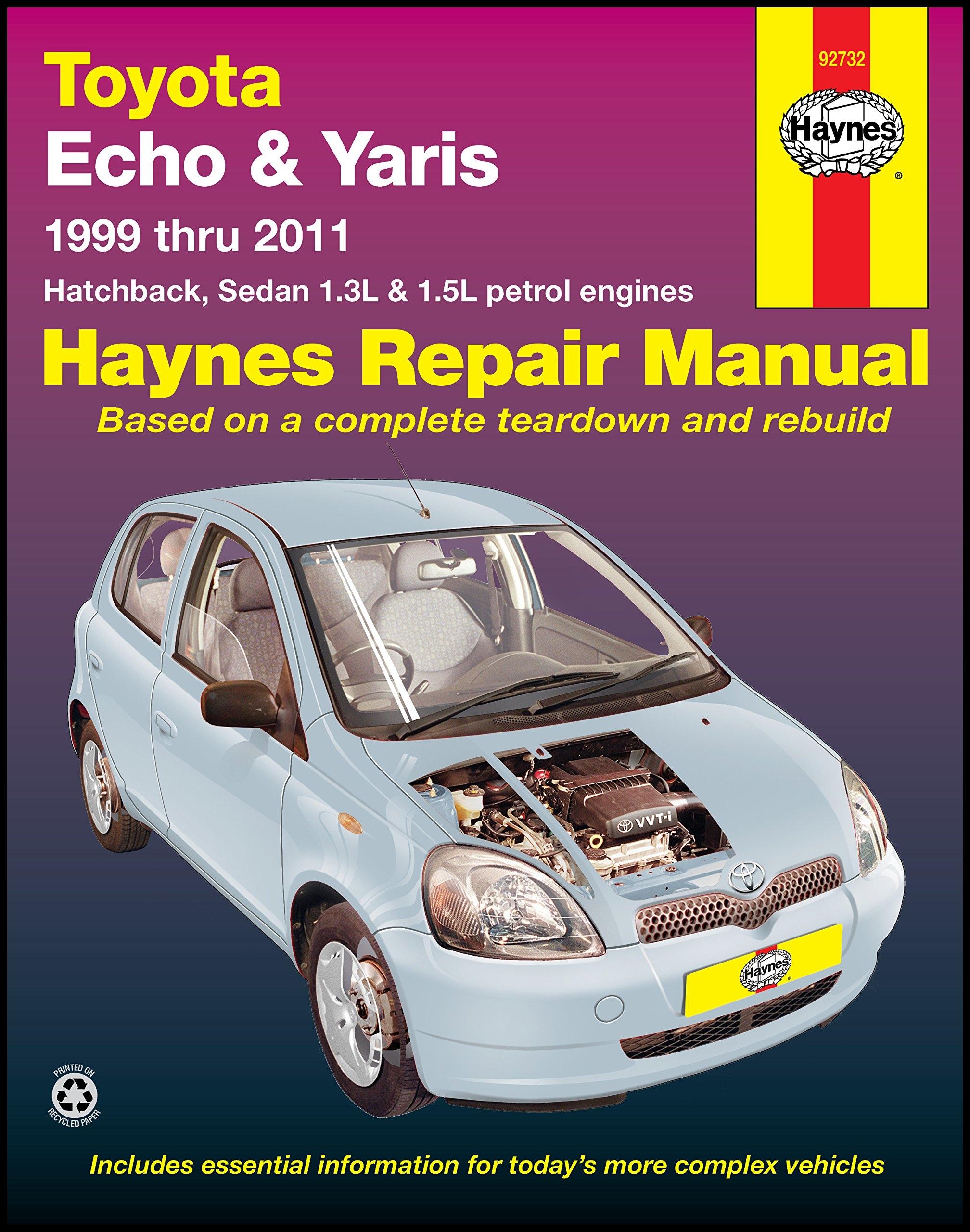 Toyota Echo Yaris Automotive Repair Manual 1999 2011 Amazon Haynes Publishing Books