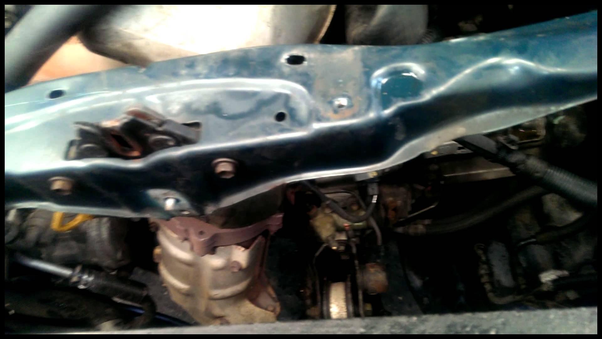 Toyota RAV 4 radiator removal replacement