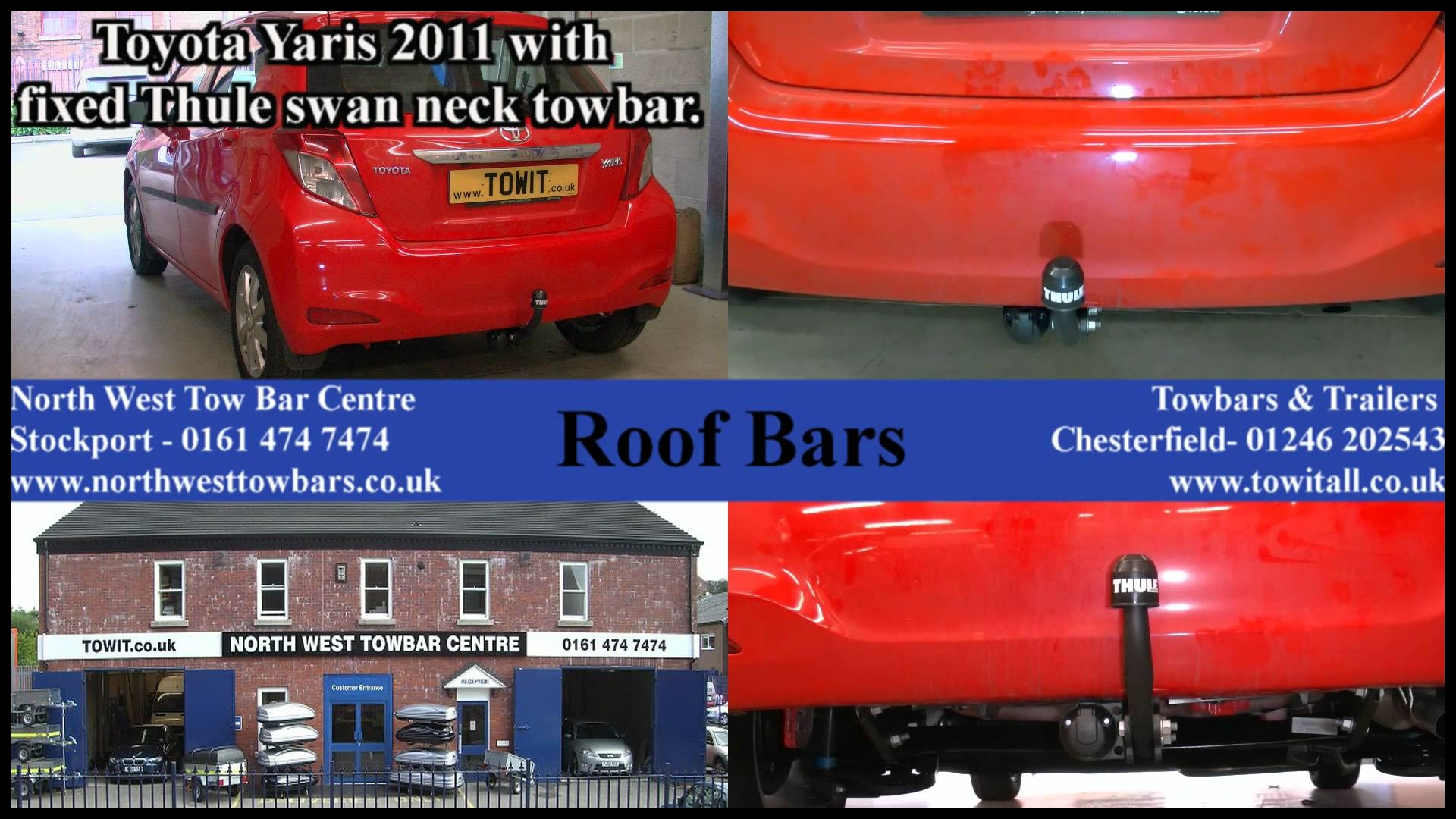 Toyota Yaris with Thule fixed Towbar