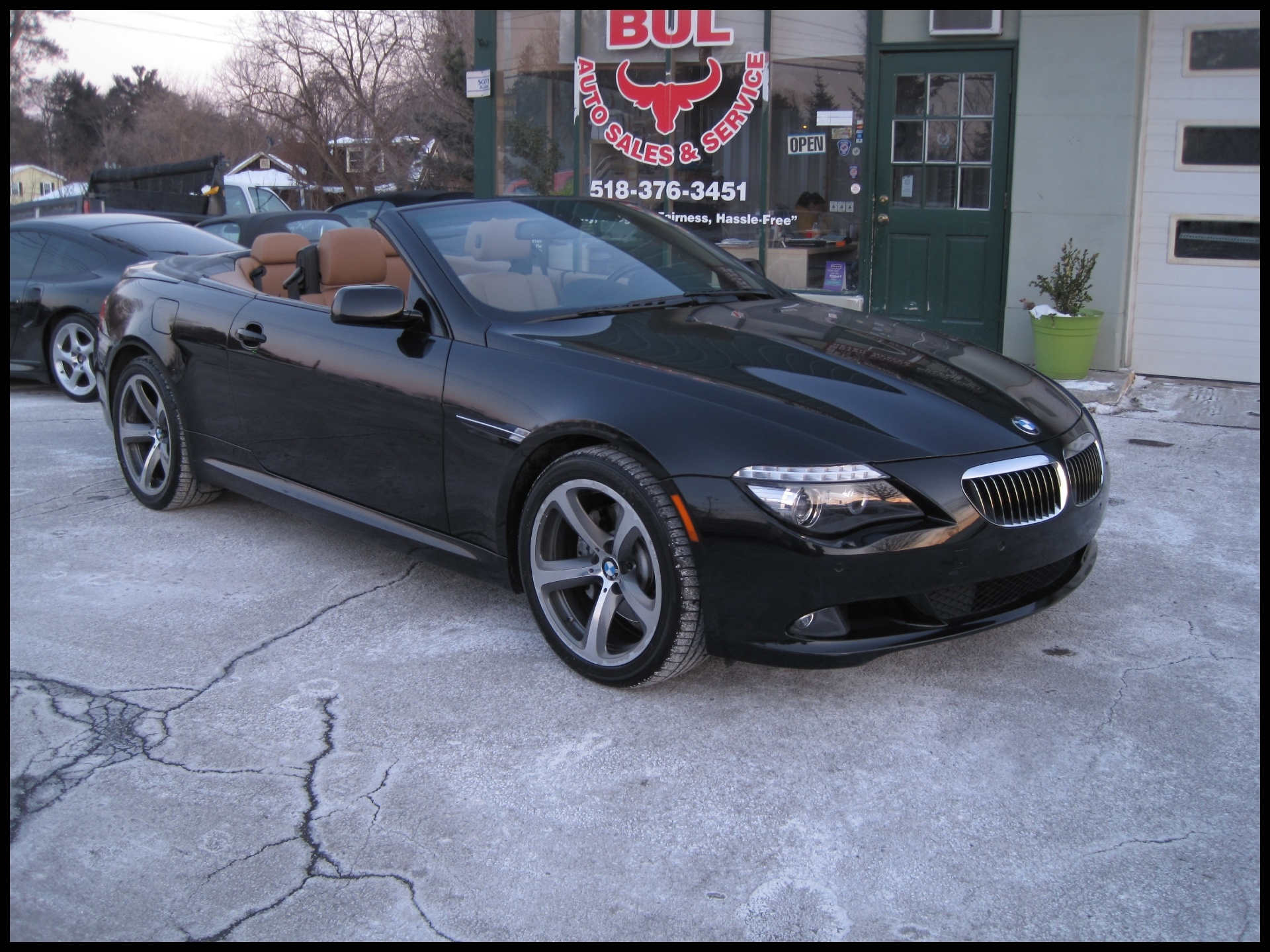 Used 2009 BMW 6 Series 650i CONVERTIBLE BLACK ON BROWN SPORT PACKAGE