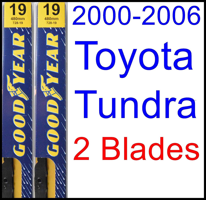 Amazon 2000 2006 Toyota Tundra Replacement Wiper Blade Set Kit Set of 2 Blades Goodyear Wiper Blades Premium 2001 2002 2003 2004 2005 Automotive