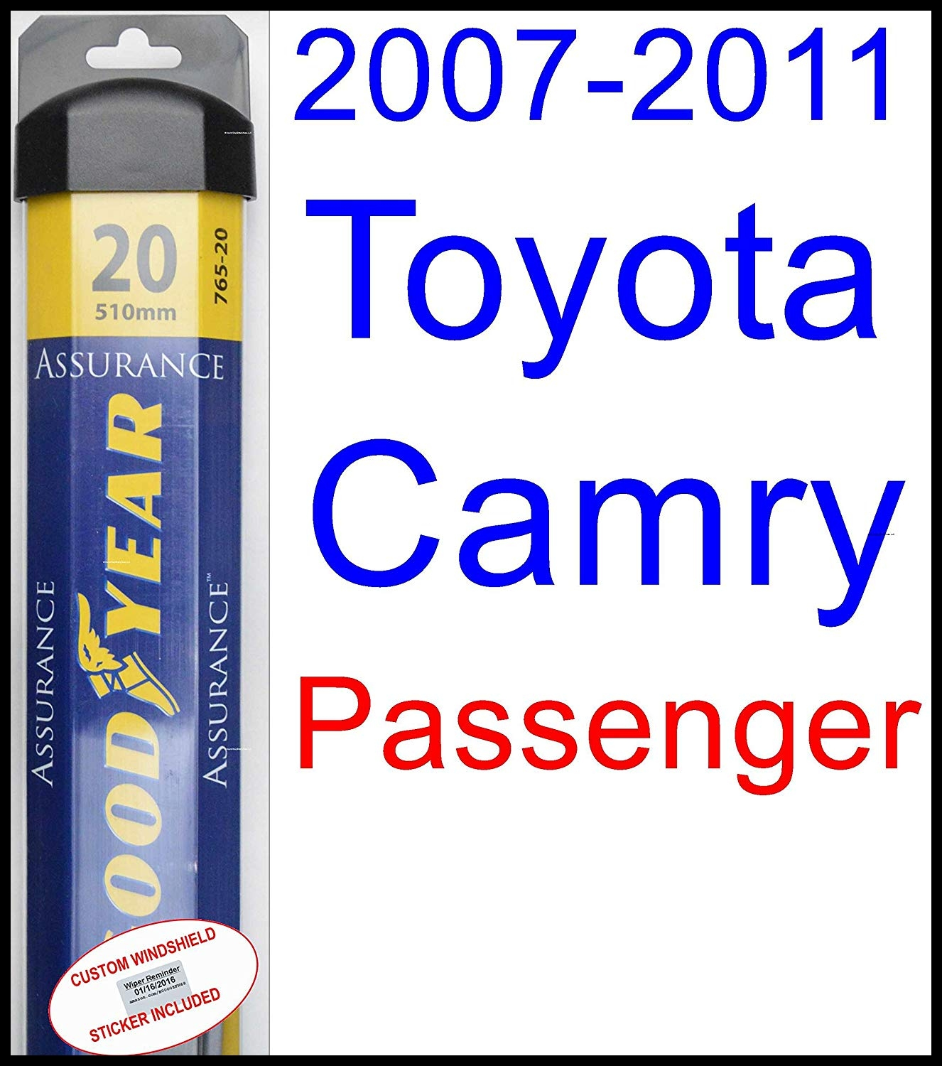 Amazon 2007 2011 Toyota Camry Replacement Wiper Blade Set Kit Set of 2 Blades Goodyear Wiper Blades Assurance 2008 2009 2010 Automotive