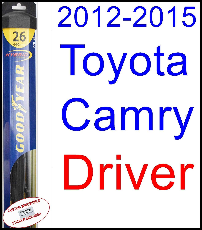 Amazon 2012 2015 Toyota Camry Replacement Wiper Blade Set Kit Set of 2 Blades Goodyear Wiper Blades Hybrid 2013 2014 Automotive
