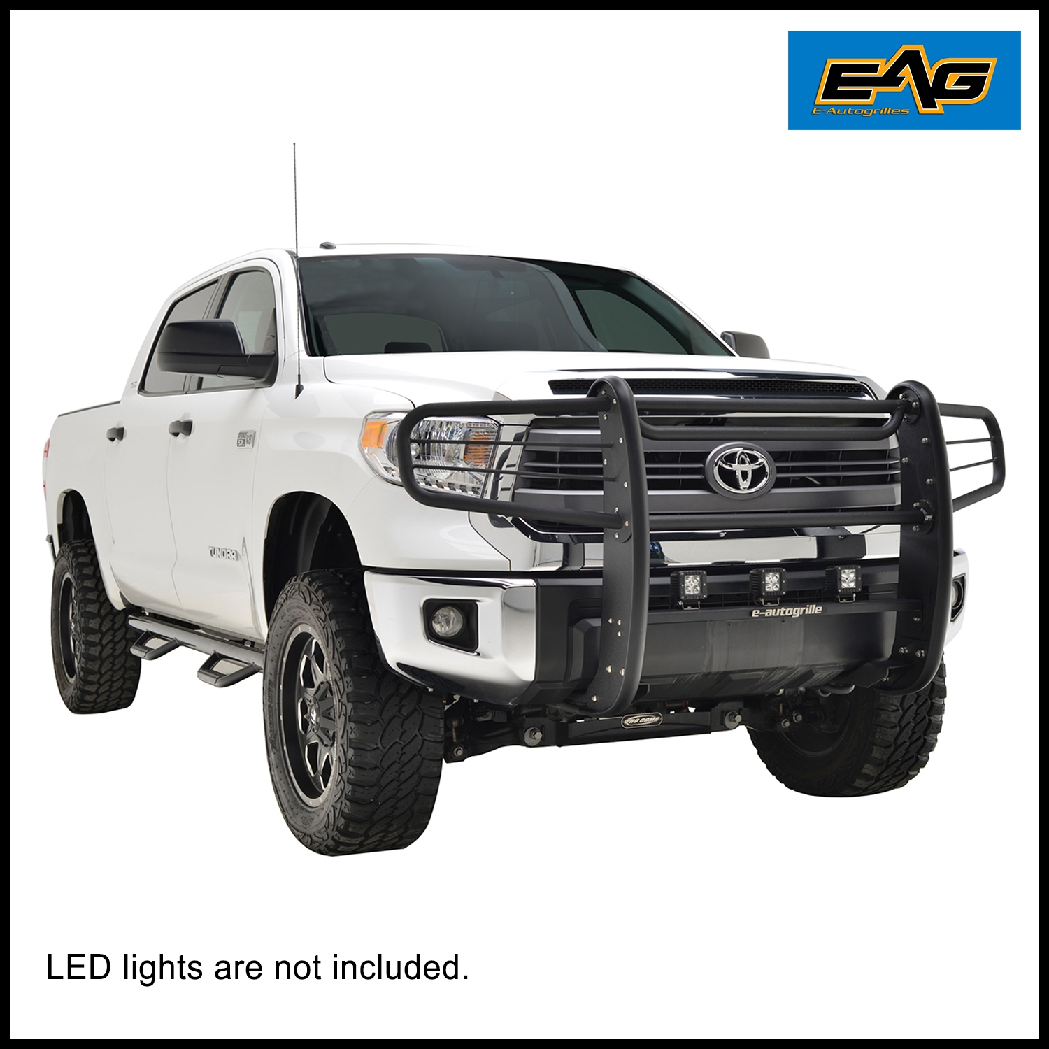 EAG Black Textured Grille Brush Guard Bumper Bar for 14 18 Toyota Tundra