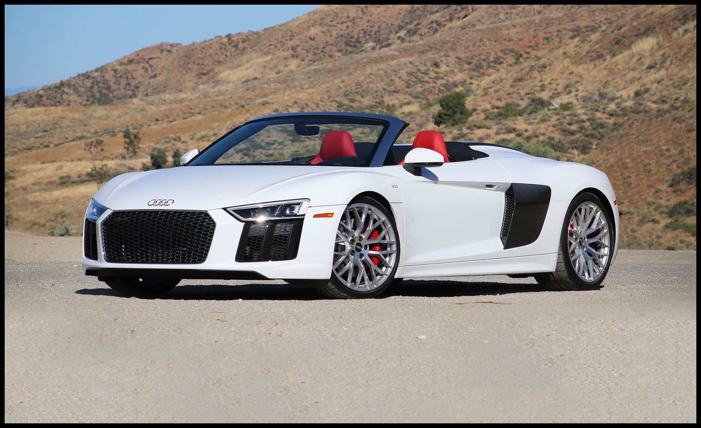 2017 audi r8 spyder instrumented test review car and driver photo s original