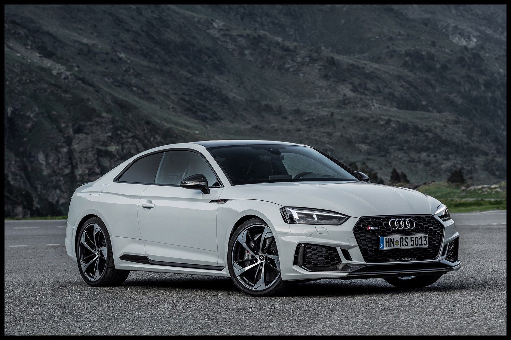 Audi RS5 2017 driving rear Audi RS5 2017 review