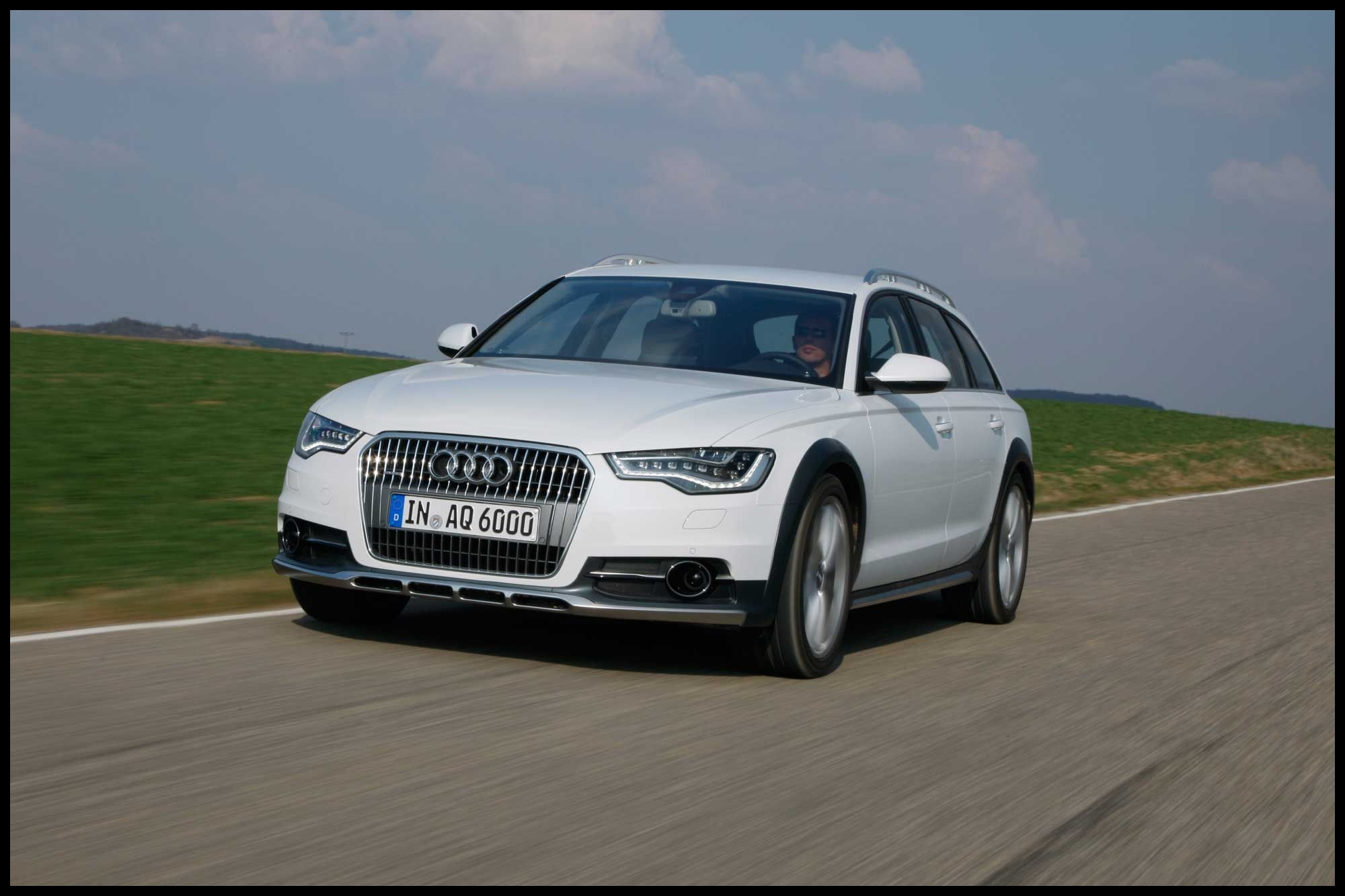 Are Audis Expensive to Fix New 2013 Audi A6 Allroad Estate White Car Driving