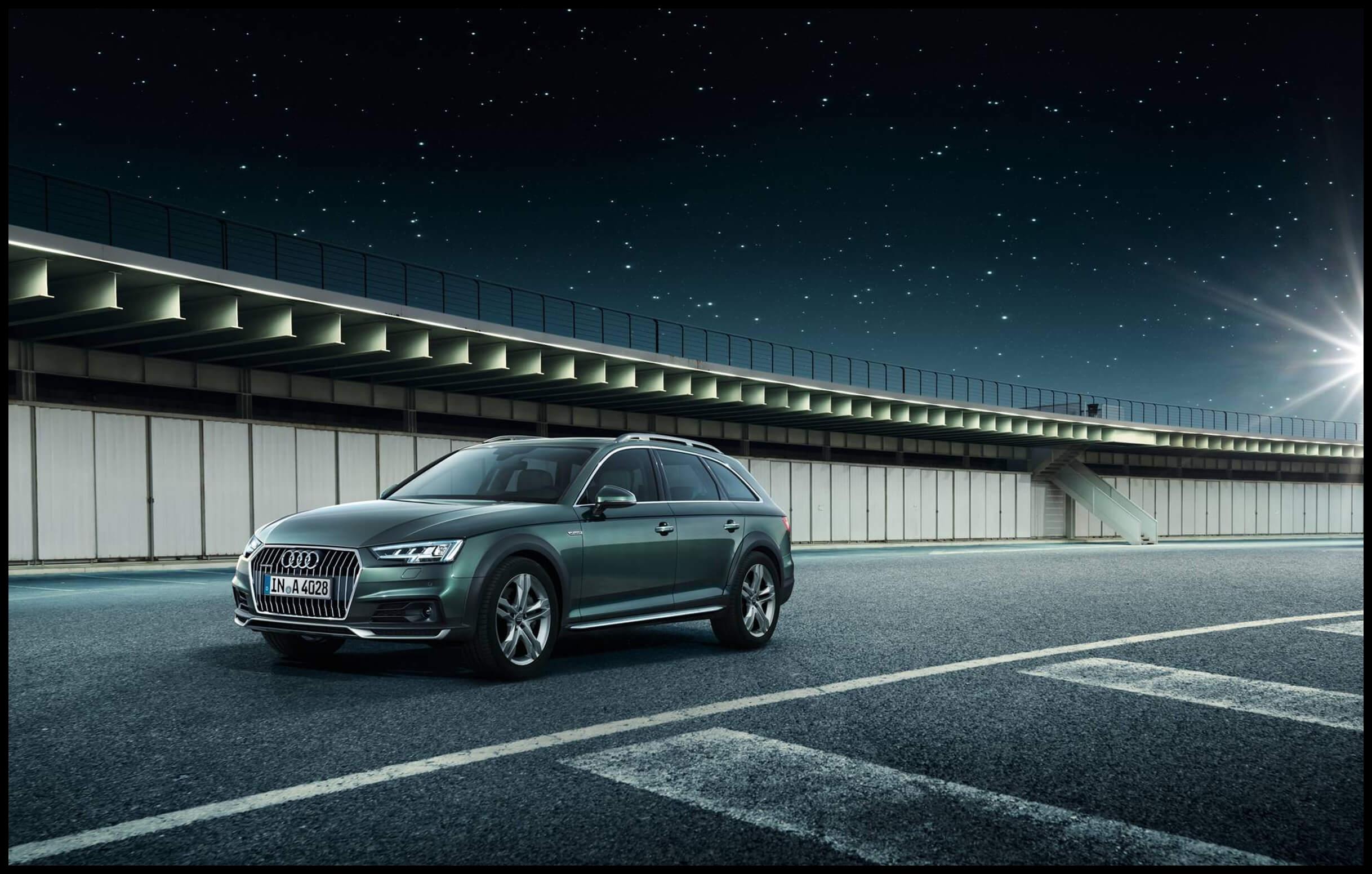 Audi allroad quattro 2016 green front left