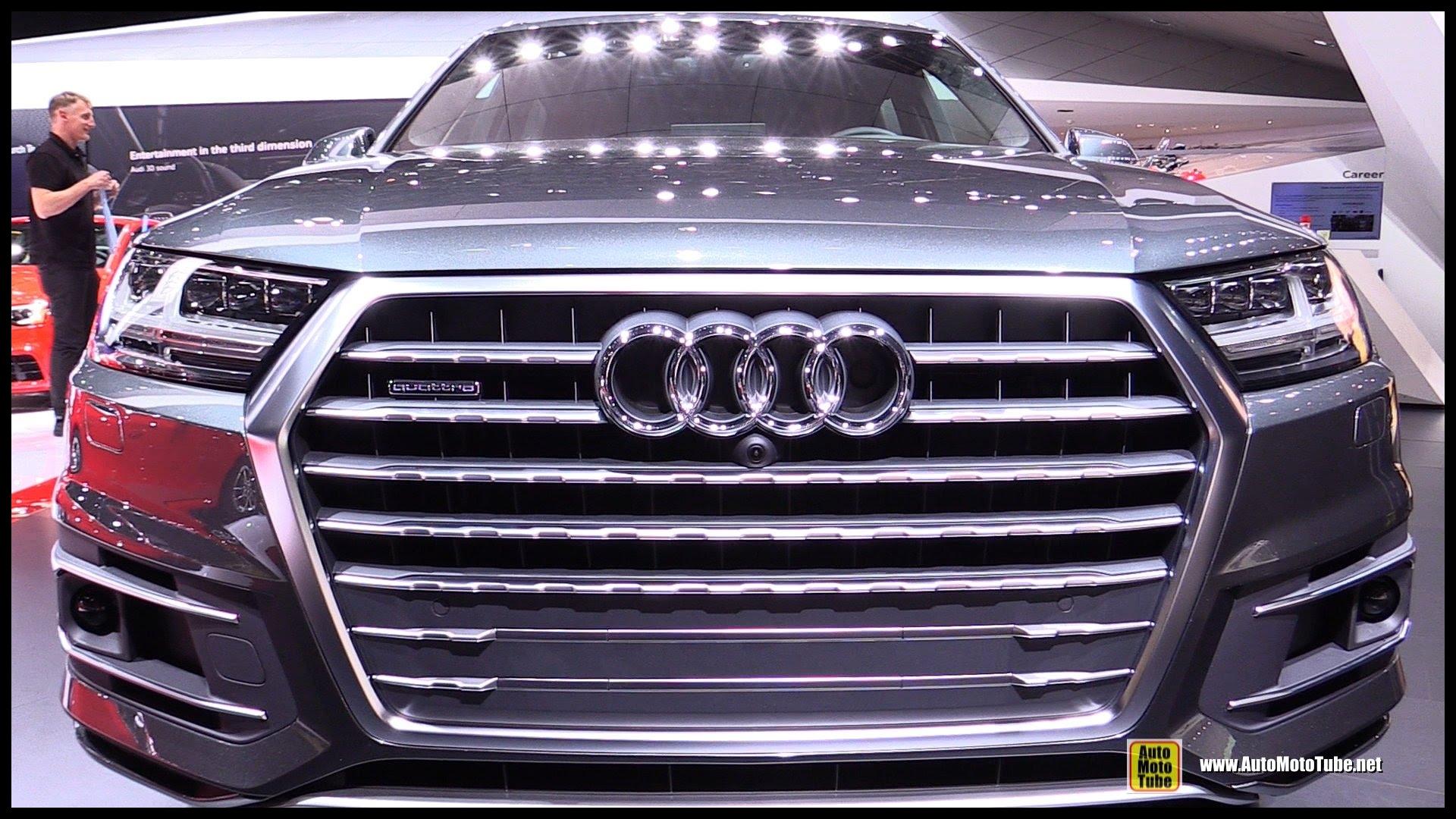 2016 Audi Q7 TDI Quattro Exterior and Interior Walkaround Debut at 2015 Detroit Auto Show