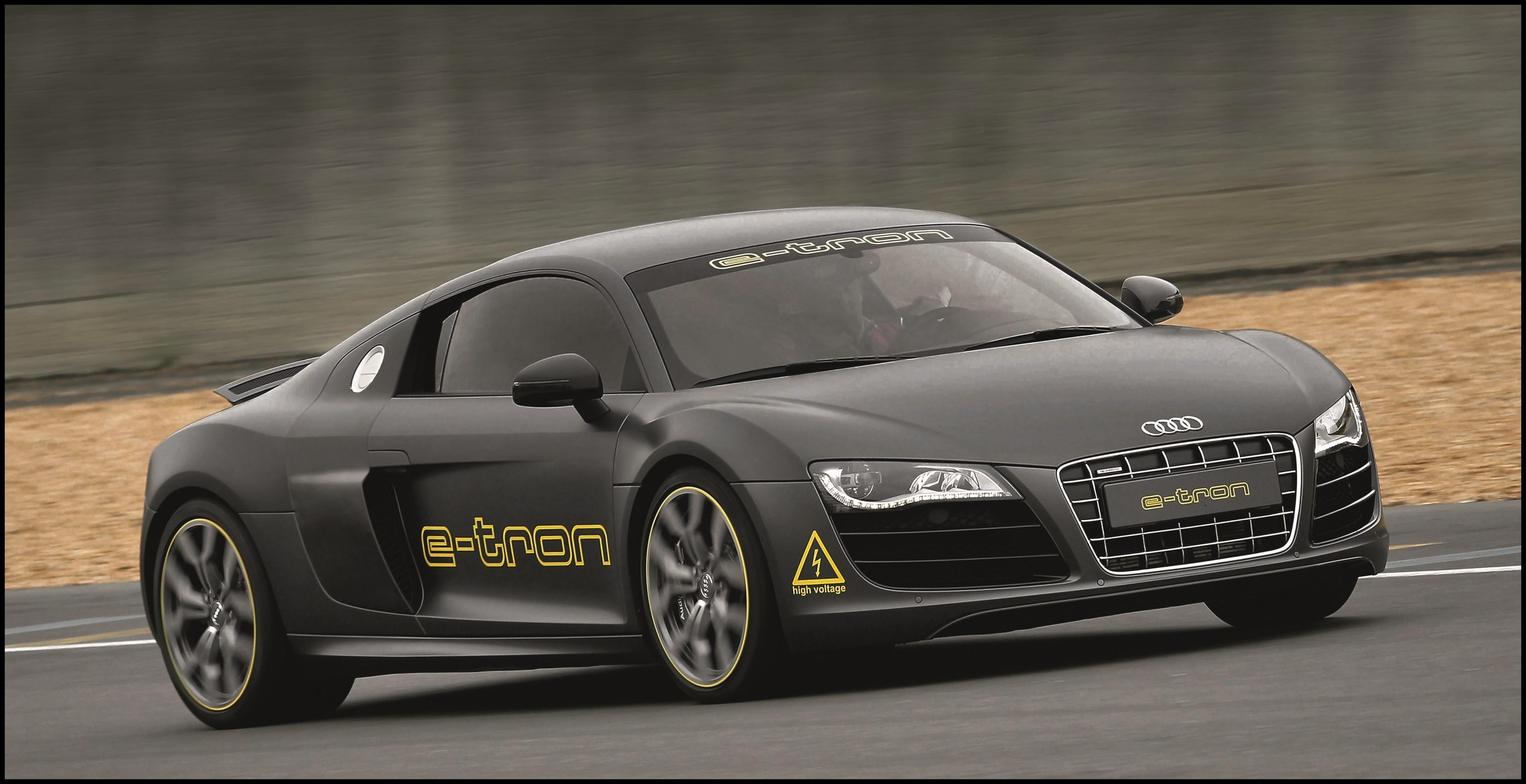 New Latest Model Audi R8 E Tron Gray Car Road Way Wallpapers New Audi Car Wallpaper Price