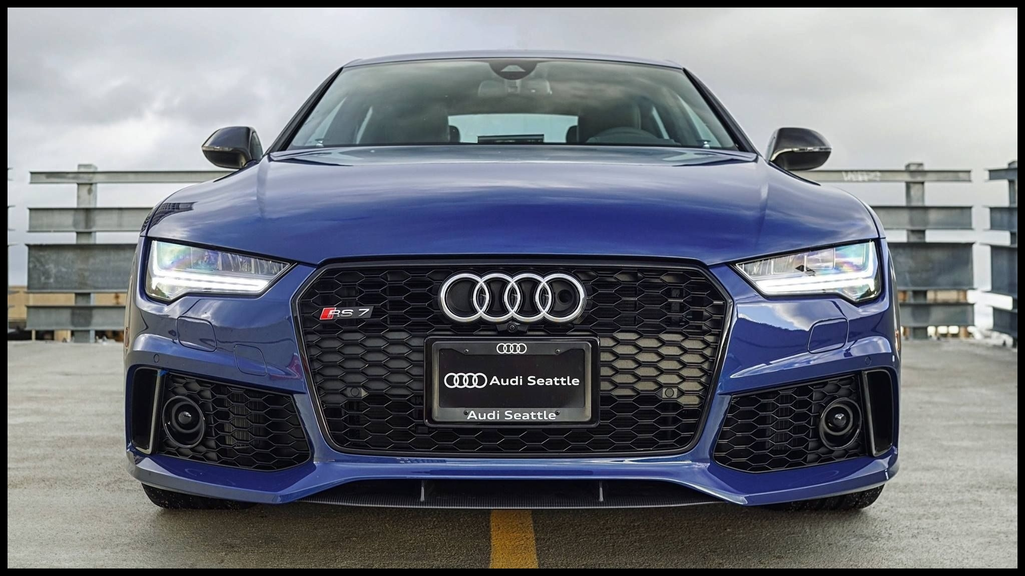 Ascari Blue RS7 Performance all up in your grille