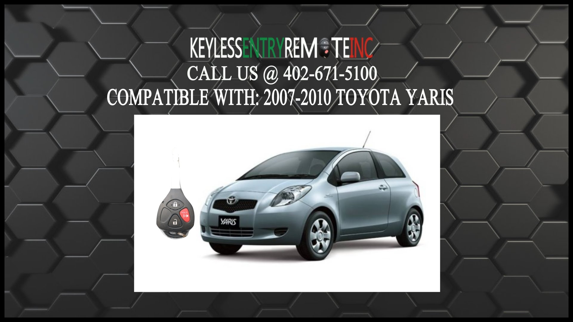 How To Replace Toyota Yaris Key Fob Battery 2007 2008 2009 2010