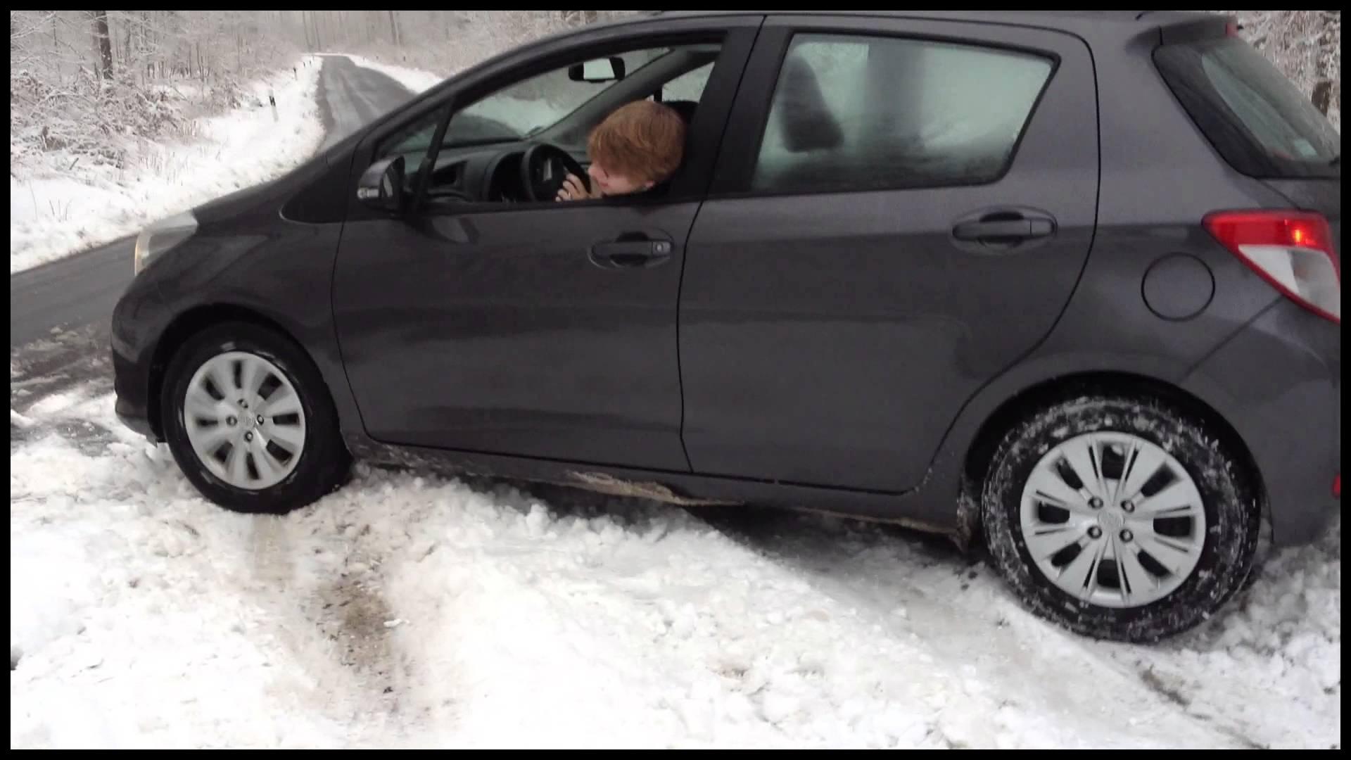 Yaris stuck on snow