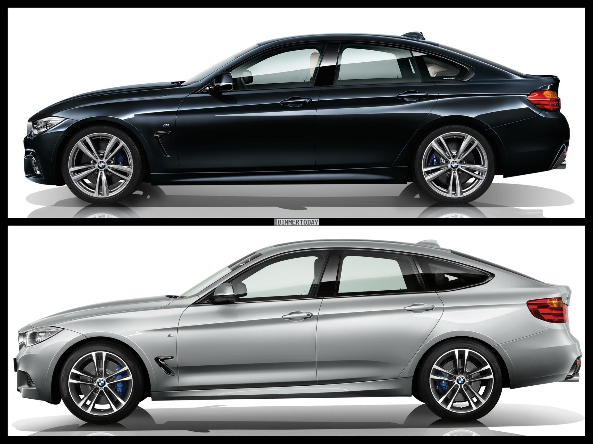 Bild Vergleich BMW 4er GC Gran Coupe F36 3er GT F34 03 750x562