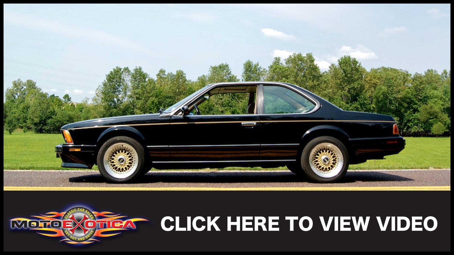 1989 BMW 635CSi SOLD