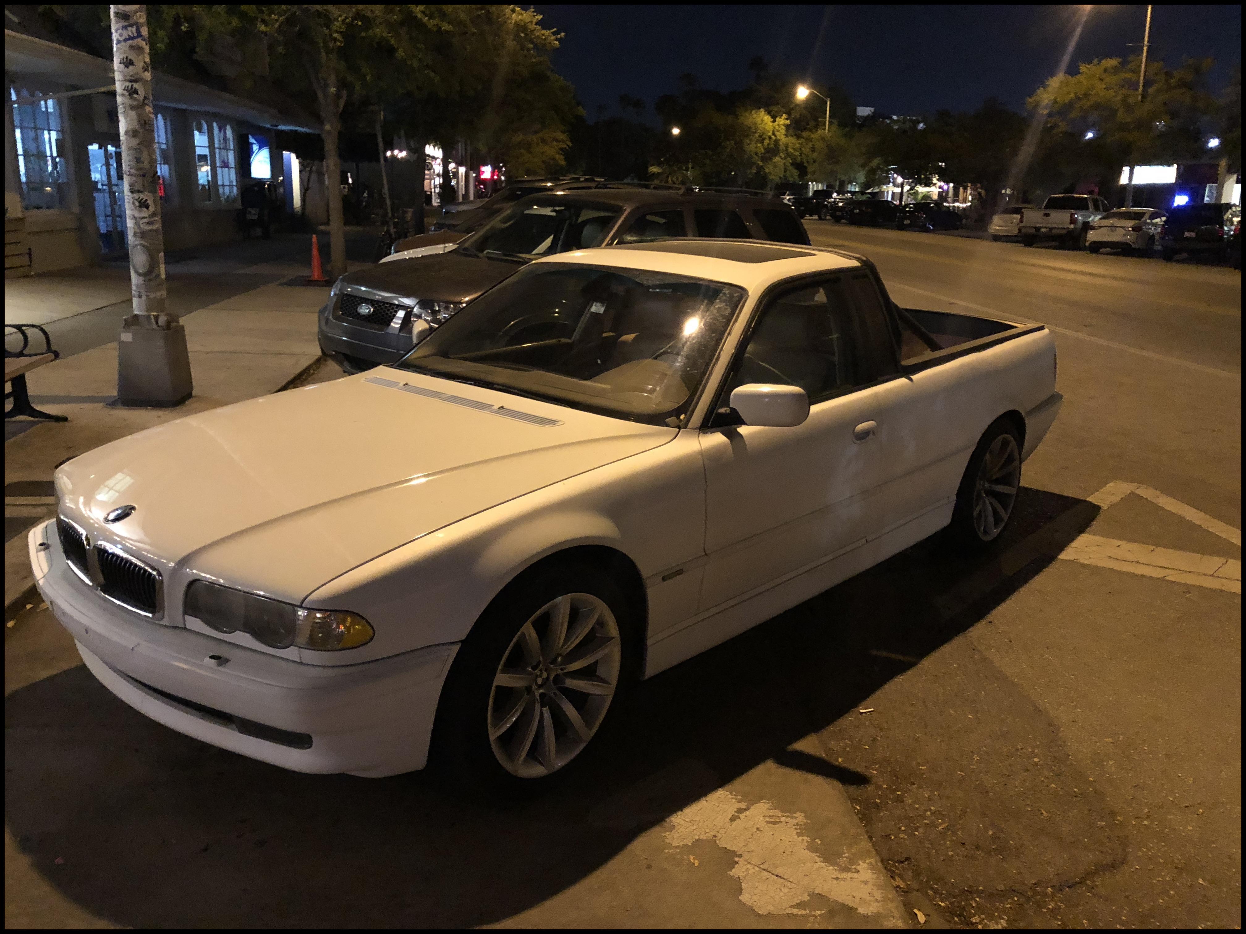 Classy redneck BMW 7 series El