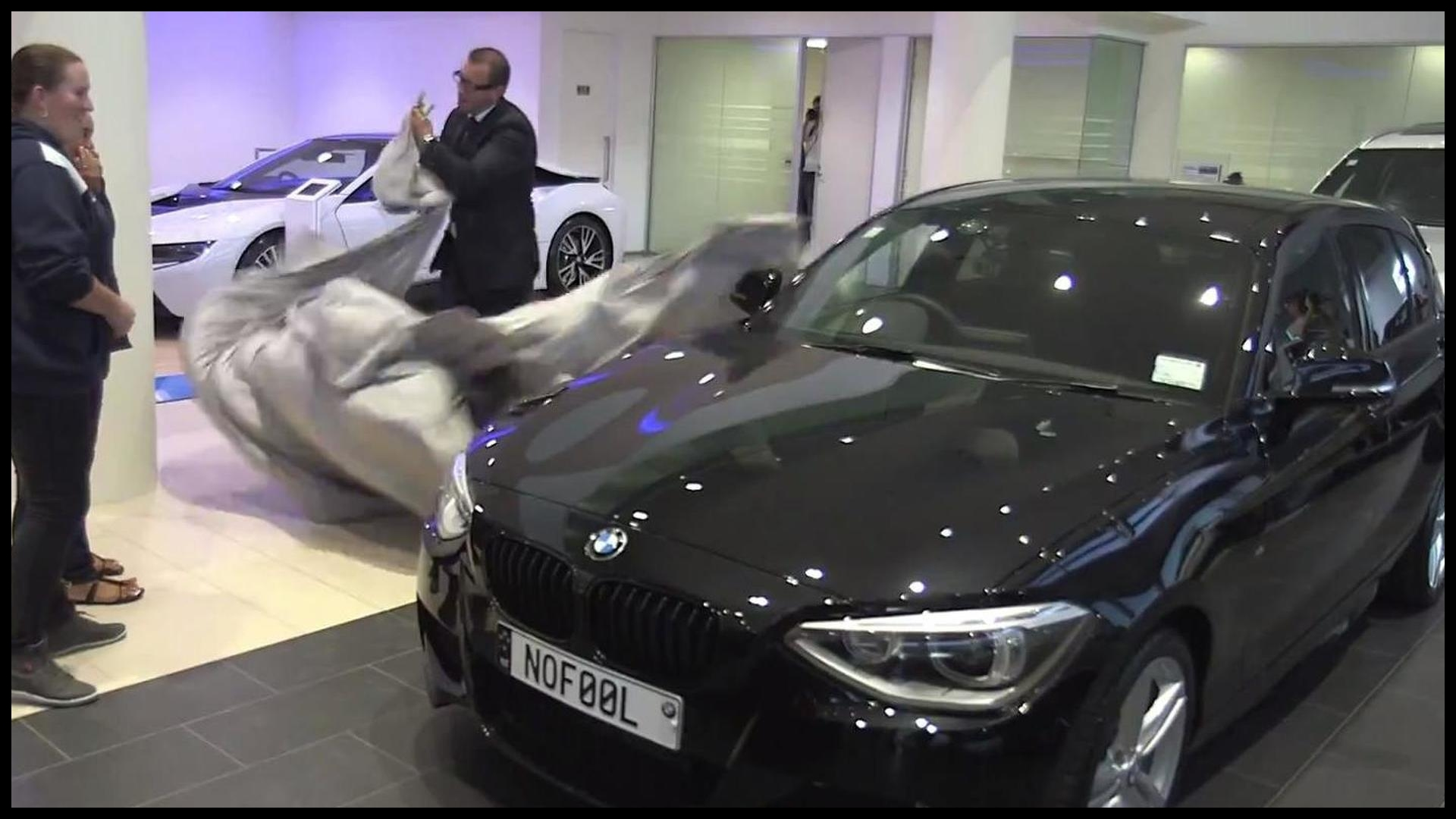 No April Fools Day joke BMW replaces woman s 15 year old Nissan with new 1 Series
