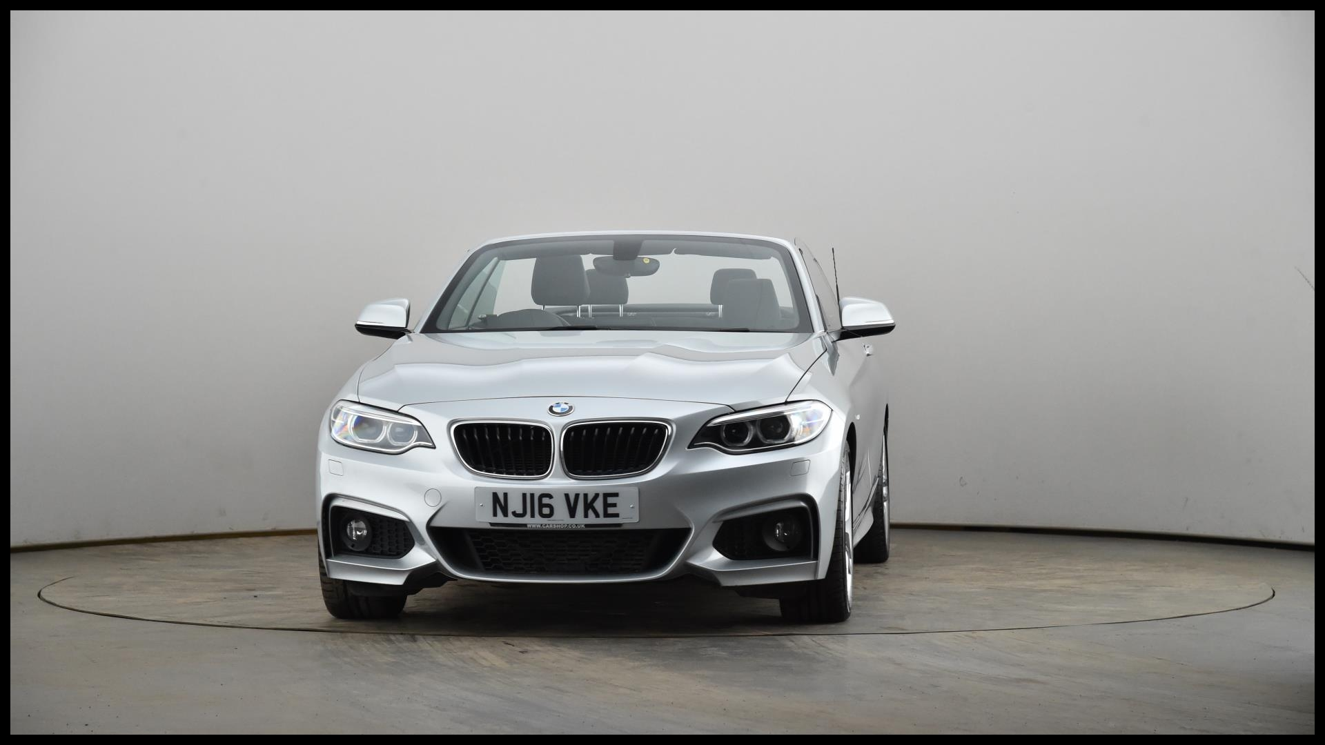 Used BMW 2 SERIES 225d M Sport 2dr [Nav] Step Auto Silver NJ16VKE
