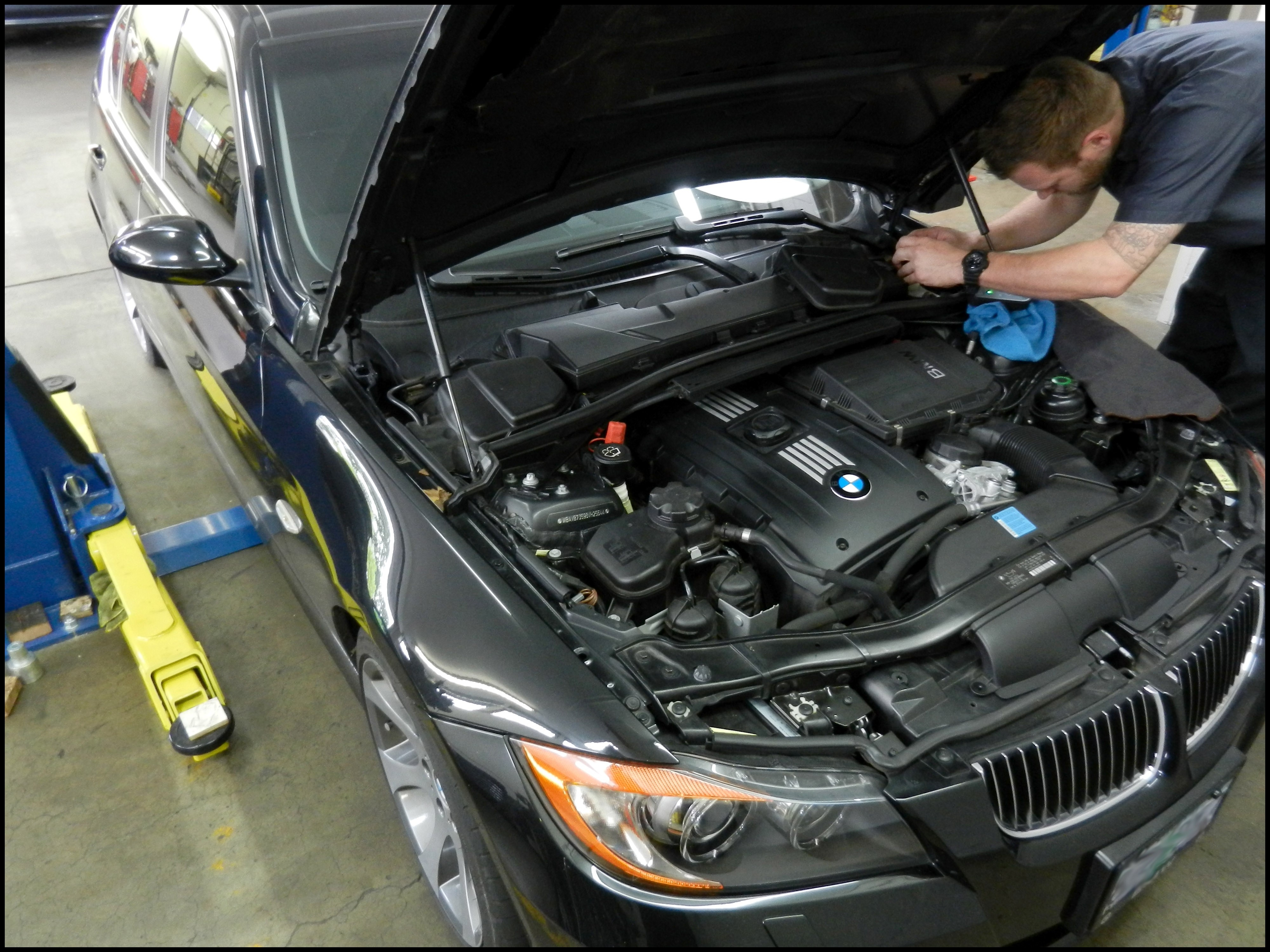 Attention to detail maintenance on E90 BMW 335i