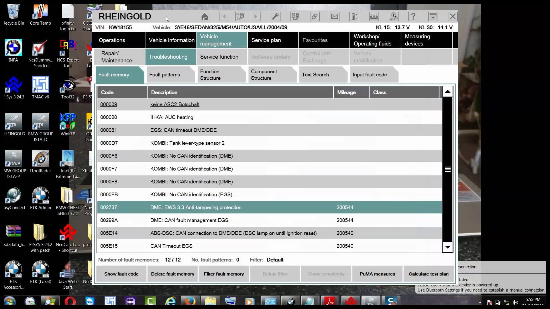 BMW E46 Not Starting EWS 3 3 & DME Start Value Reset SOLVED 11 45 KW 2015 11 17 18 13 15