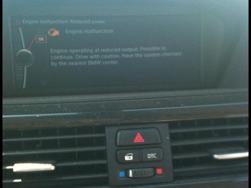 Bmw Engine Malfunction Reduced Power