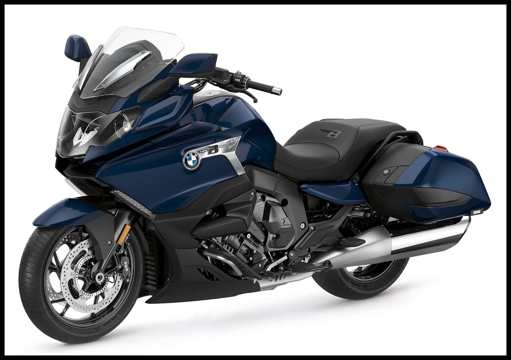 The 2017 BMW K1600B is a premium touring bike with all the toys It s powered by a 1 649cc inline 6 engine which puts out 158bhp