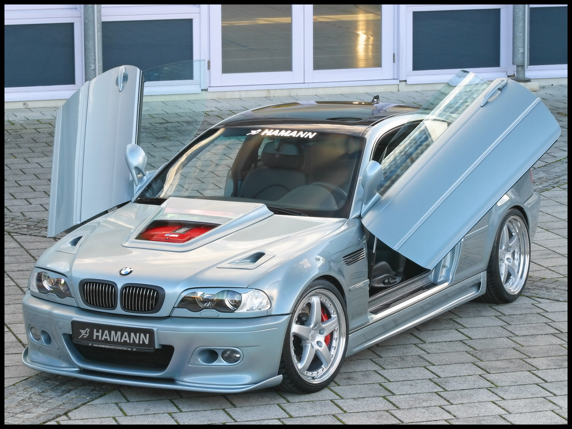 BMW Hamann Las Vegas Wings Front Angle Top Open Doors Wallpaper
