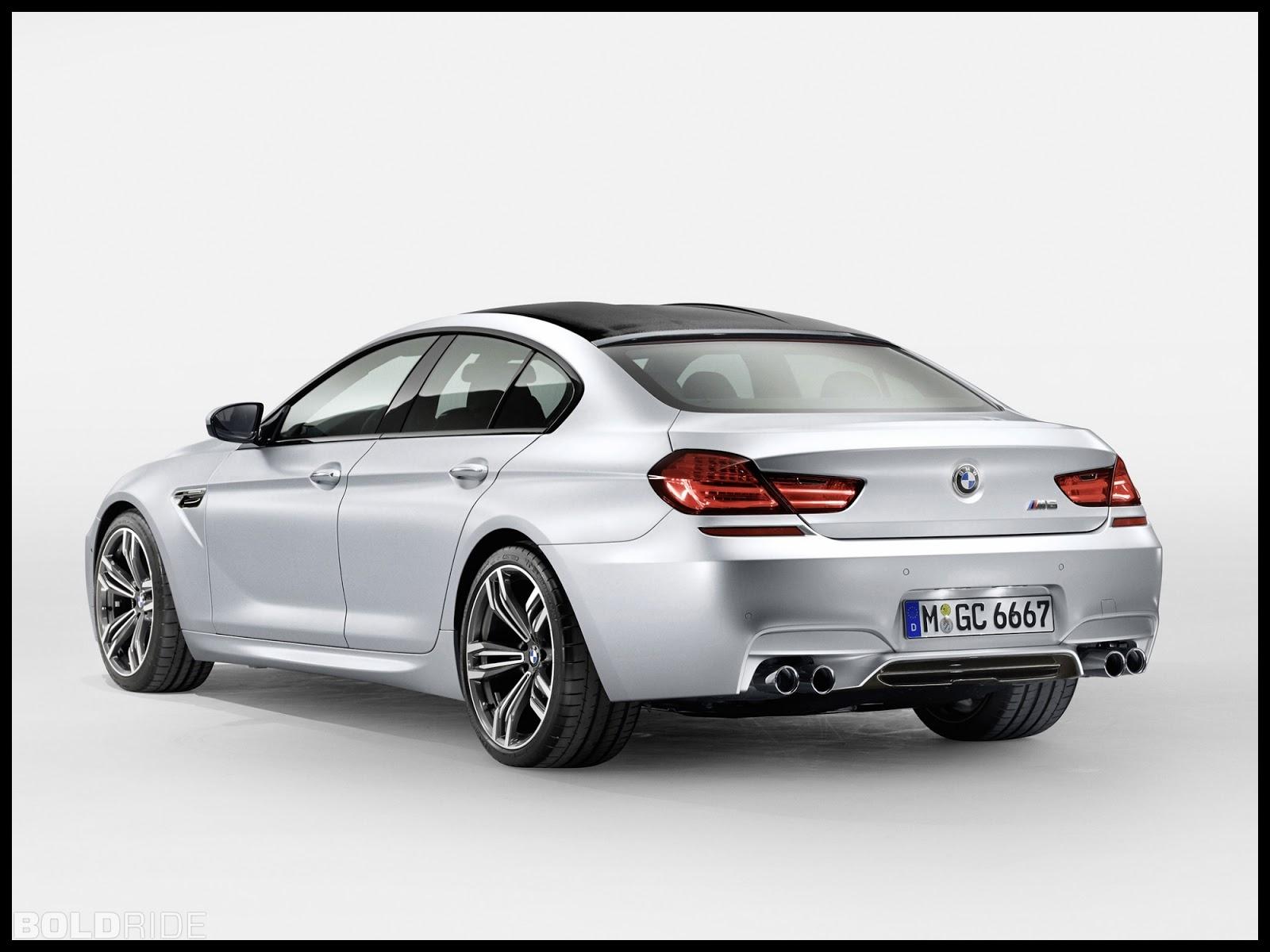 2013 BMW M6 Gran Coupé rear view