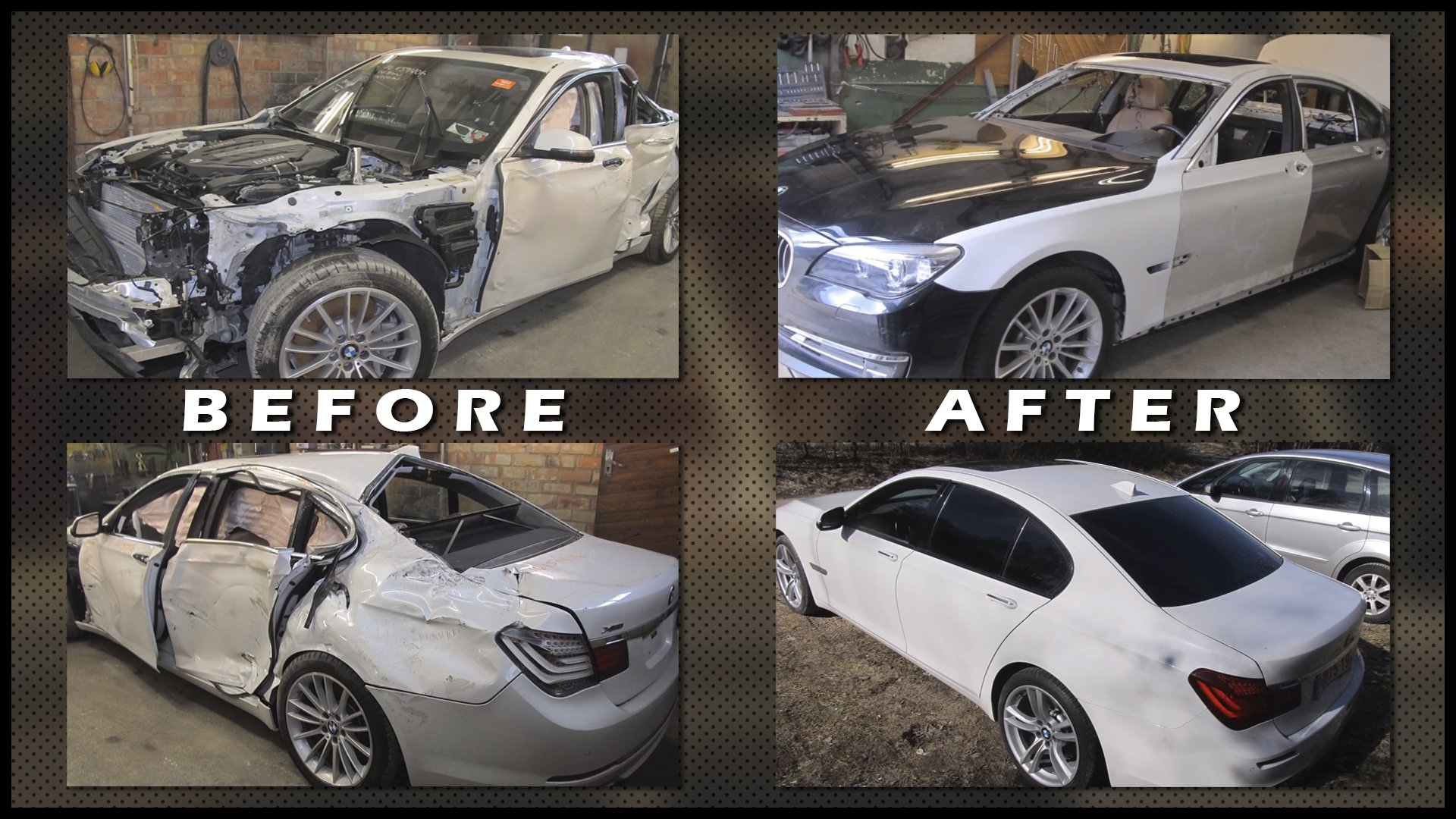 Watch This Russian Body Shop pletely Repair a Totaled BMW 7 Series The Drive