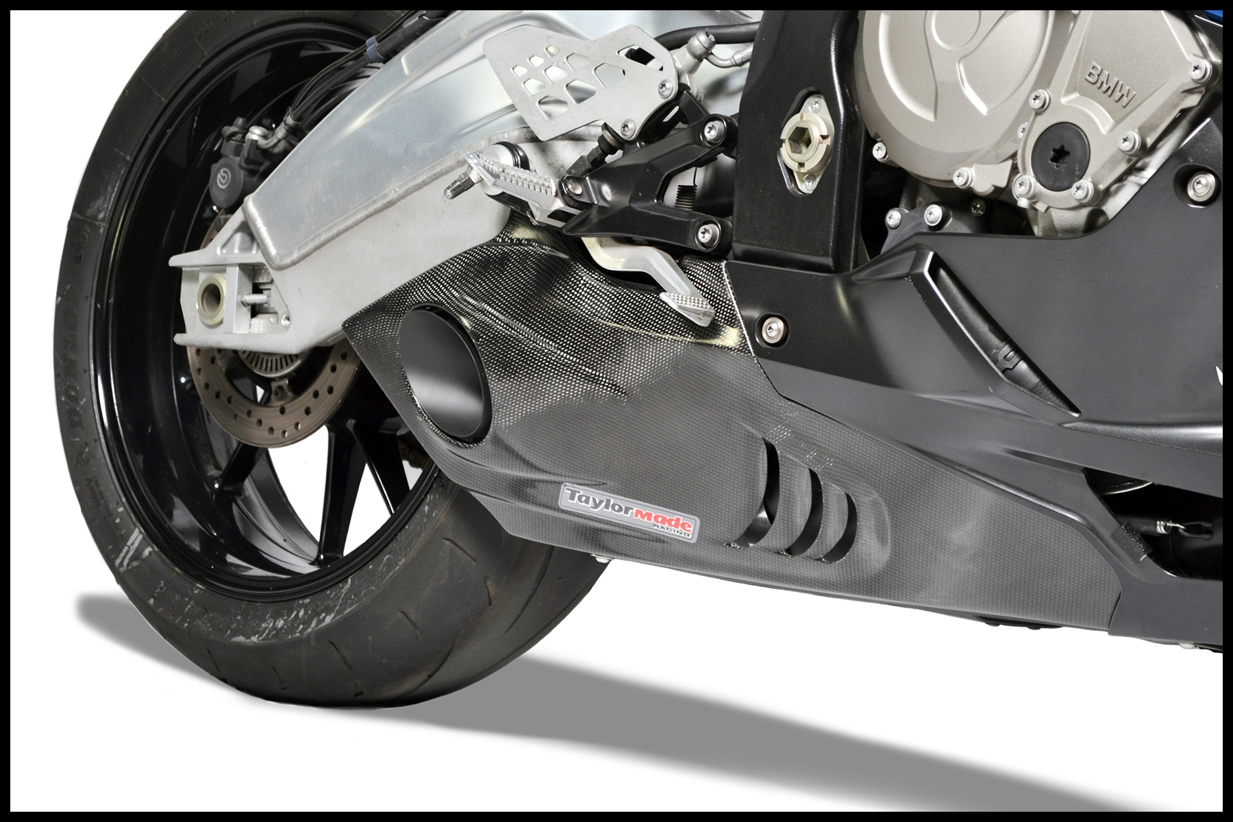 BMW S1000RR Carbon Fibre Exhaust Trim Right