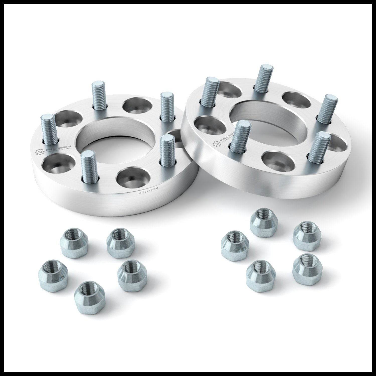 """2pc 1"""" Thick 5x110 to 5x114 3 Wheel Adapters CHANGES BOLT PATTERN"""