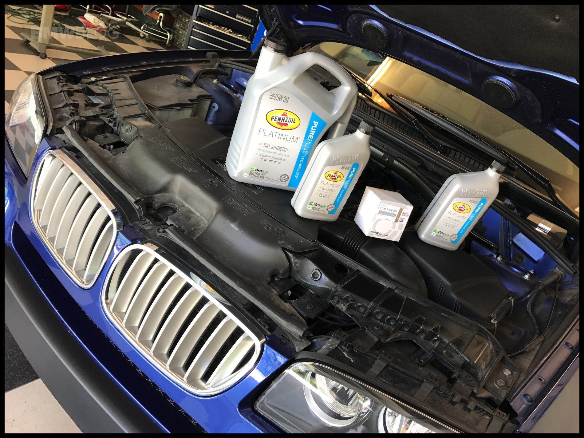 BMW X3 oil change 03 830x623