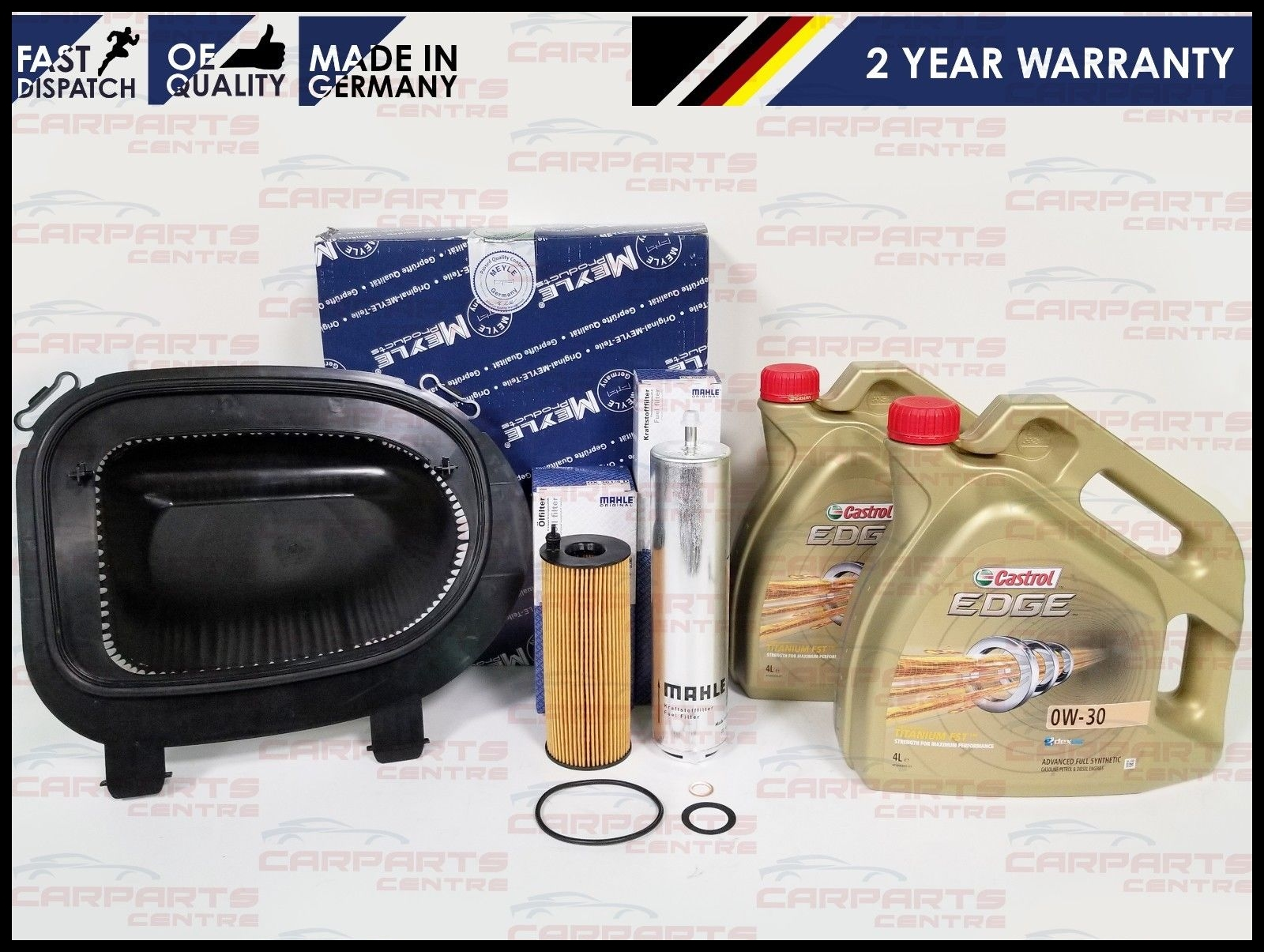 FOR BMW X5 E70 3 0D M50D 376BHP ENGINE AIR OIL FUEL SERVICE FILTER KIT CASTROL