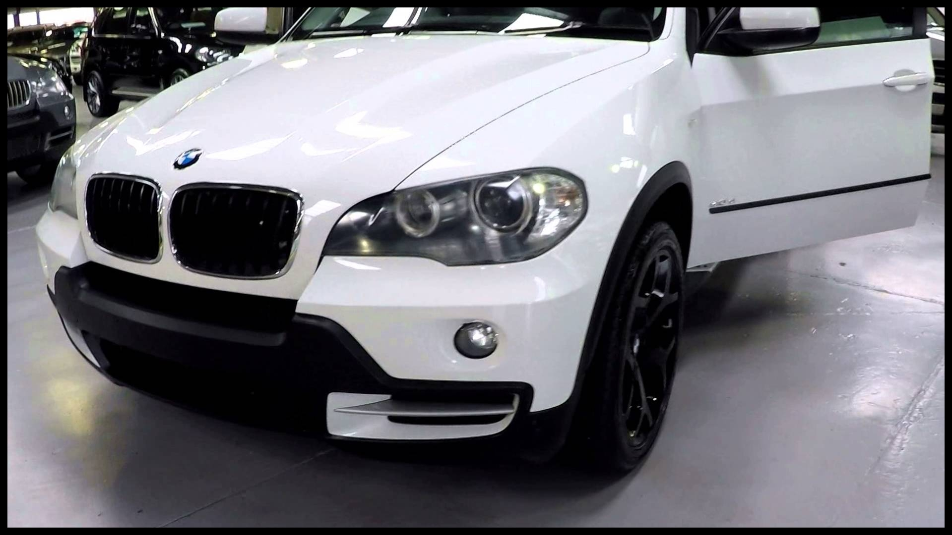 Bmw with 3rd Row Bmw X5 3 0d White 2008 Sn