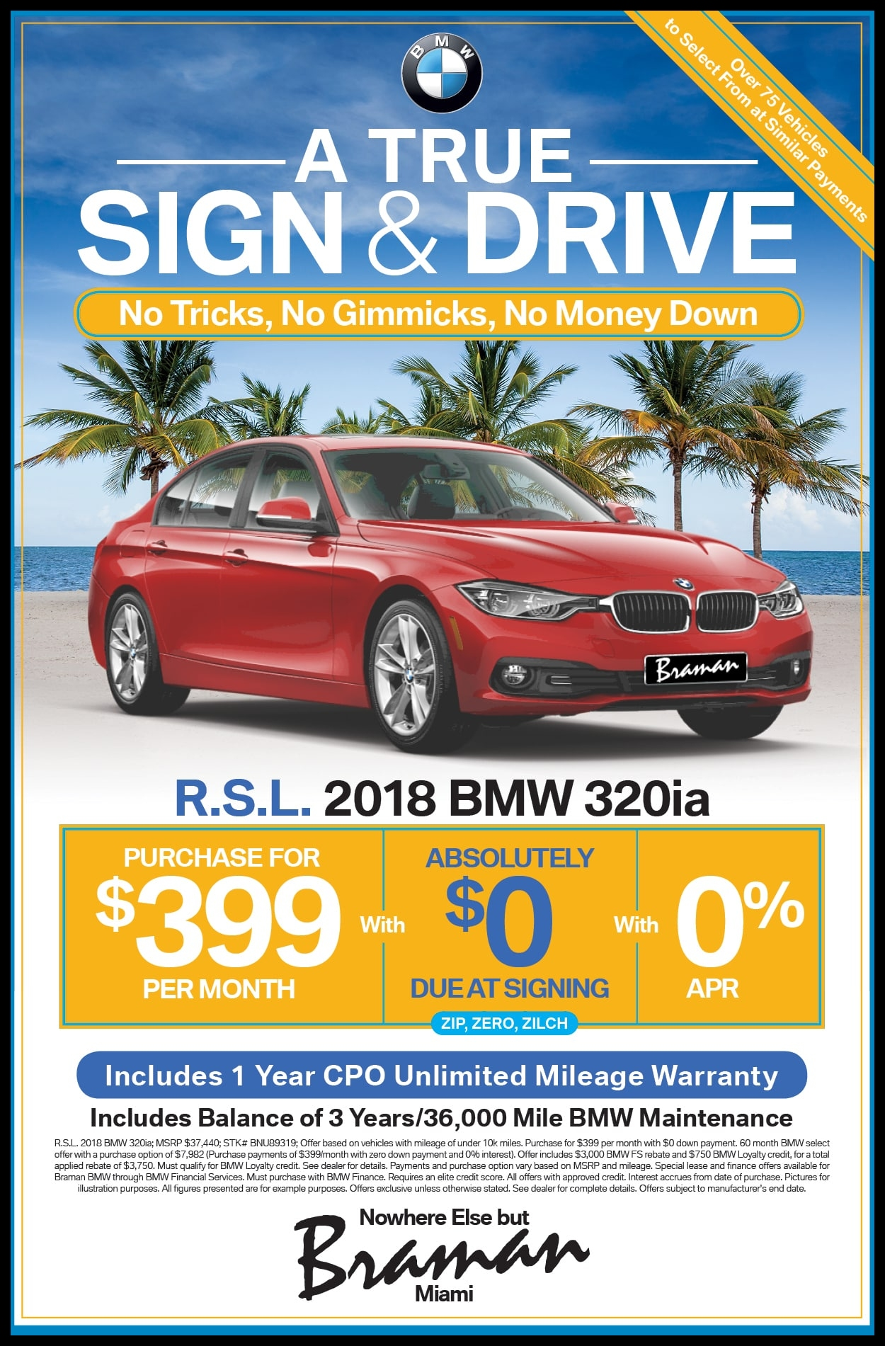 Braman Motors BMW Miami Newspaper and Print Ad Specials